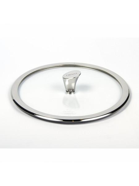 Крышка выпуклая Кастелин, стекло, блестящая, 20 см, K20CHVB, CRISTEL