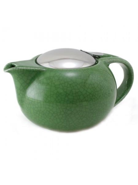 Заварочный чайник Сатурн Чайники, черный фарфор и нержавейка, 0,5 л, TH05SNM, CRISTEL