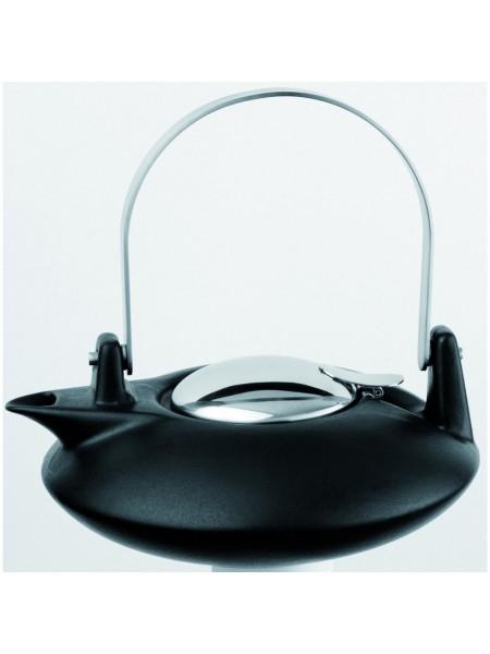 Заварочный чайник Зен Чайники, черный фарфор и нержавейка, 0,5 л., TH05ZNM, CRISTEL