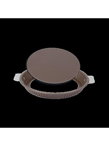 Форма для торта с антипригарынм покрытием, сьемным дном и сьемной ручкой, 28 см, PTMT28FA, CRISTEL