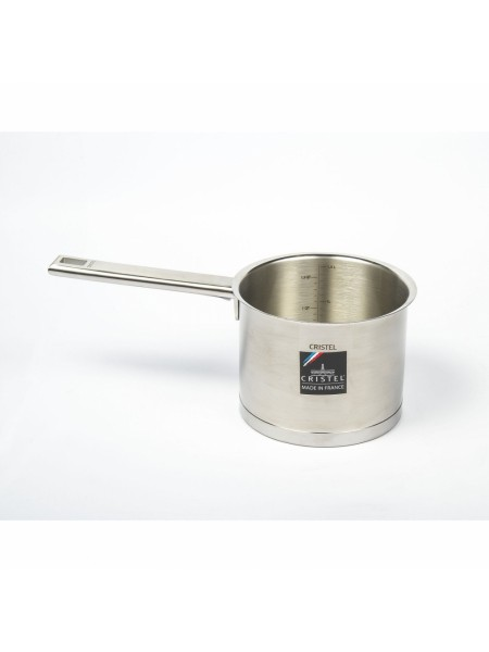 Высокая кастрюля Стрейт-фикс, с градуировкой, 14 см, штампованное дно, CHG14SF, CRISTEL