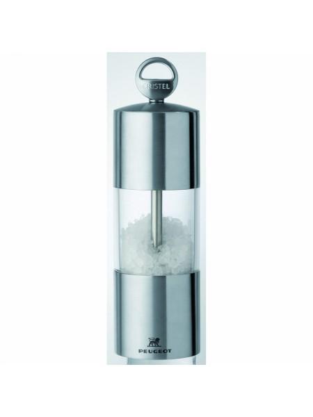 Мельничка для соли Навеска, 15 см, прозрачный с нержавейкой, мехаизм Пежо, TCSRT15, CRISTEL