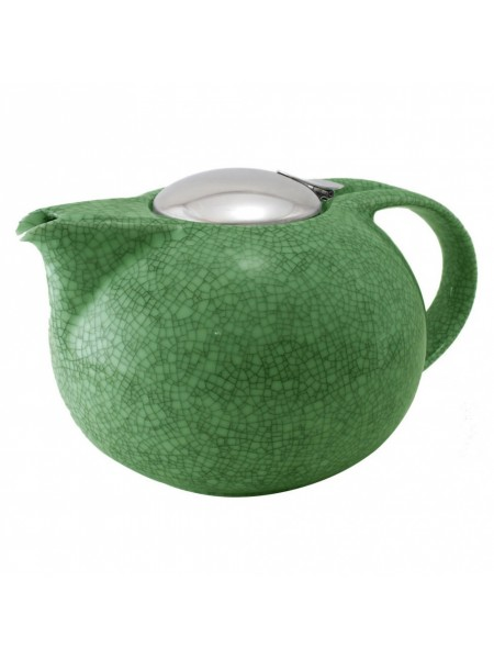 Заварочный чайник Чайники, зеленый кракелюр, фарфор и нержавейка, 0,3 л, TH03SVC, CRISTEL