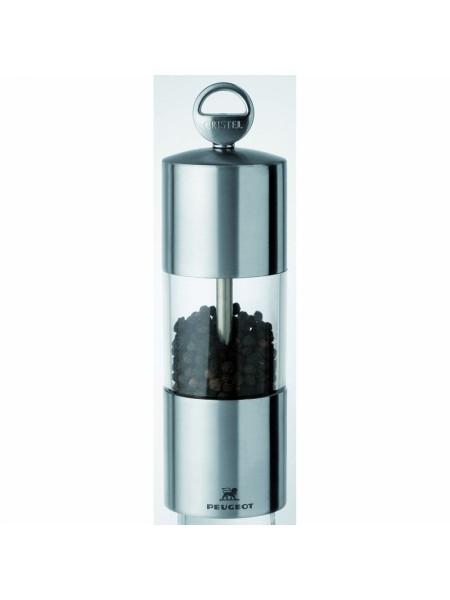 Мельничка для перца Навеска, 15 см, прозрачная с нержавейкой, механизм Пежо, TCPRT15, CRISTEL