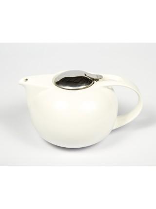 Заварочный чайник Сатурн Чайники, белый фарфор и нержавейка, 1,35 л, TH13S, CRISTEL